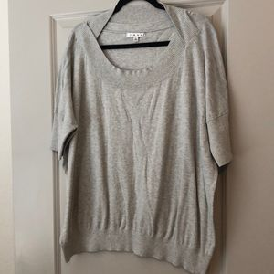 Cabi gray short sleeve sweater